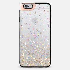 Gold Multicolor Pastel Confetti Transparent iPhone 6 Plus Metaluxe Case by Organic Saturation | Casetify Get $10 off using code: 53ZPEA