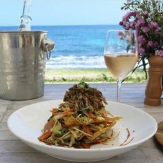 Eat at Sandy Bay Beach Club