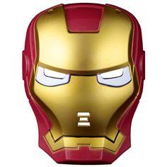 Children's LED Eyes Lighting Ironman Mask Facepiece Boy's Halloween Christmas Masquerade Supplies