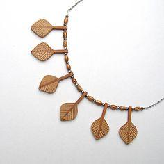 wlkr / Drevené náhrdelníky/Navliekané / Borovicovo slivkové lístky Tassel Necklace, Jewelry, Fashion, Moda, Jewlery, Jewerly, Fashion Styles, Schmuck, Jewels