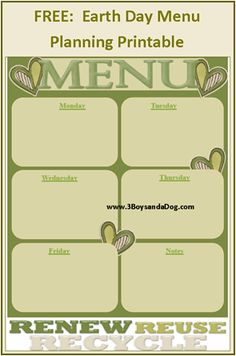 Menu Plan Monday: Going Green!