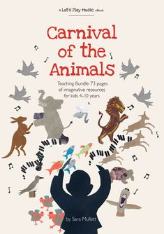 Brand new Carnival of the Animals teaching bundle with 73 pages of imaginative resources. Animal Worksheets, Animal Activities, Infant Activities, Movement Activities, Music Activities, Lets Play Music, Carnival Of The Animals, Early Music, Music Sites