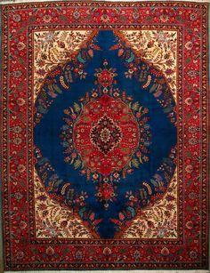 """Tabriz Persian Rug - 9' 7"""" x 12' 8"""""""
