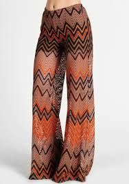 Mission style flares. I have a pair of Missoni's in green and brown.