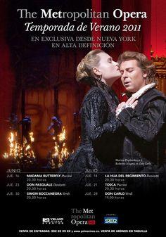 La mejor Opera desde el MET de Nueva York en Los Rosales. Temporada de Verano. 2011.