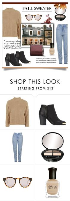"""Fall sweater 🍂"" by jemma-armitage ❤ liked on Polyvore featuring Topshop, Giuseppe Zanotti, Illesteva, Deborah Lippmann and Givenchy"