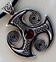 Triskelion Triskele Trinity Norse Druid Celtic Magic Knot Silver Pewter Pendant   eBay