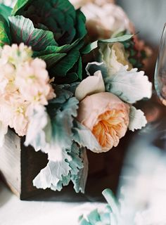 Beautiful peach + sage + emerald + mahogany
