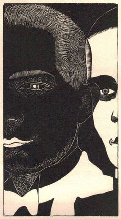 Alexander Alexeieff's 1927 illustrations for Jean Genbach's L'Abbé de l'Abbaye. From the collection of Richard Sica