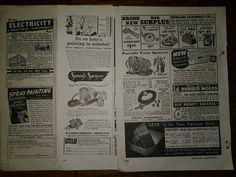 3 Vintage Original Print Ads from 1947 & 1949 Spray Painting & Painters