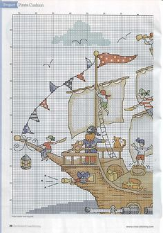 Pirate  2 Pirata ♥ Ponto Cruz. / Cross Stitch. ♥