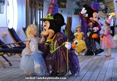 Want to enjoy a haunted party at sea? Spend some time with beloved Disney characters, wearing special Halloween costumes  for a fun-filled Halloween costume party – Disney Cruise Line style – complete with live music, dancing and lots of candy! For adults, the nighttime entertainment district on the Disney ships becomes the ghoulish setting for a costume contest and party sure to bring chills to everyone.     Plan your trip today by contacting me at rachel@mickeytravels.com or 1-888-863-2436…