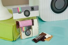 Instagram Party + printables by Anders Ruff: s'more packs...LOVE the fondant cookie and packaging!