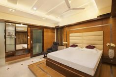 Master bedroom showing the sliding wardrobe and dresser.