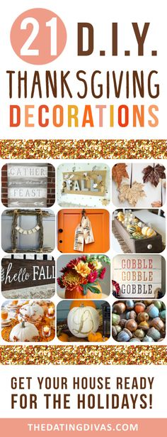 DIY decorations for Thanksgiving!