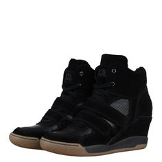 Ash 43616 Andy Womens Wedge Hi Top Trainers AW12 Black/Black from www.hypedirect.com Sports Footwear, Trainers, High Top Sneakers, Wedges, Shoes, Black, Women, Fashion, Tennis
