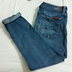 Jeans Jeans 7 for all Mankind Jeans Ankle & Cropped