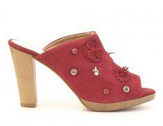 Sandalia destalonada piel FOSCO Outlet, Heeled Mules, Heels, Fashion, Winter, Spring, Flowers, Women, Heel