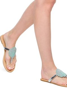 Love these seashell sandals!