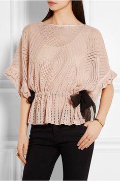 REDValentino | Crochet-knit sweater | NET-A-PORTER.COM