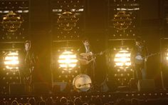 "Mumford & Sons perform their hit ""I Will Wait""! Listen to their station here: http://www.iheart.com/artist/Mumford-Sons-379483/ #MumfordAndSons #IWillWait #music #folk #Grammys #iHeartRadio"