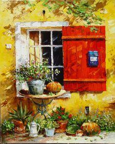 Provence window 100x80 oil on canvas 2005