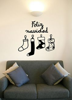 vinilo botas navidad-2 | Flickr: Intercambio de fotos Christmas Stickers, Baking Station, Holi, Merry Christmas, Christmas Ideas, Wall, Murals, Christmas Slogans, Merry Christmas Background