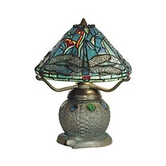 Bedside lamp for my Dream Bedroom! Dale Tiffany Dragonfly Replica Table Lamp at HSN.com. #HSN #HouseBeautiful