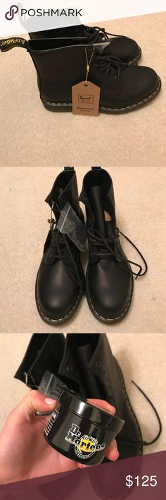 Dr. Martens Air Wair Boots Brand New boots. Comes with balsam for conditioning. Dr. Martens Shoes Boots