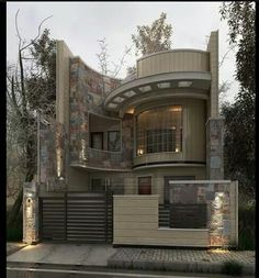 In this case, we wondered which are the most beautiful modern homes that are built. Bungalow House Design, House Front Design, Modern House Design, Beautiful Modern Homes, Villa Design, Modern House Plans, Exterior Design, Modern Architecture, House Styles