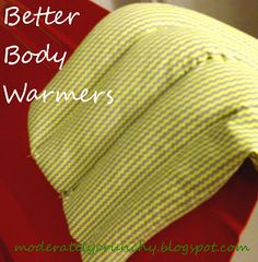 "rice body warmers- homemade Christmas gift idea ""would be pretty in a floral or toile fabric with some lace around it to make it look shabby chic"""