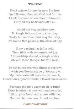 Poem from Grandpa's funeral :)