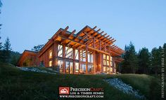 Washington Timber Frame Home Exterior | PrecisionCraft Timber Frame Homes | Flickr - Photo Sharing!