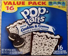 Kellogg's Frosted Cookies & Creme Pop-Tarts, 16 ct Image 4 of 8 Tasty, Yummy Food, Yummy Treats, Sweet Treats, Pop Tart Flavors, Gourmet Recipes, Snack Recipes, Balanced Breakfast, Cookie Frosting