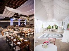 Love the draping and set up of picture on right
