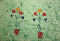 Necmeddin Ebru, 1964 by Necmeddin Okyay. flower painting