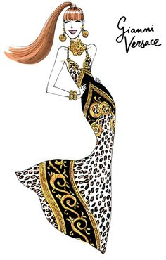Gianni by Jordi Labanda Fashion Line, Fashion Art, Love Fashion, Girl Fashion, Fashion Design, Illustration Mode, Fashion Illustration Sketches, Fashion Sketches, Gianni Versace