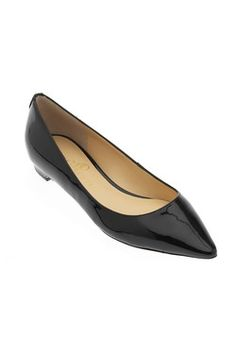 Annulio Patent Pointy-Toe Flat