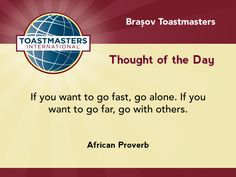 An African proverb on the need of others.