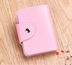 Pink Cute Women Wallet Holder Pocket Business ID Card Credit Bag Case Accessories Coin Bag, Mini Canvas, Pocket Wallet, Business Card Holders, Cute Woman, Wallets For Women, Women's Accessories, Leather Wallet, Cute Girls