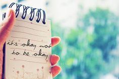 It's okay not to be okay quotes outdoors trees life okay notebook pad