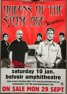 Queens of the Stone Age Belvoir Perth Cafe Poster Buy Now...it's just a click away!