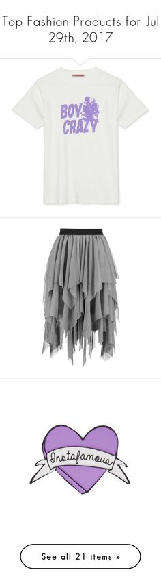 """Top Fashion Products for Jul 29th, 2017"" by polyvore ❤ liked on Polyvore featuring skirts, knee length tulle skirt, knee length pleated skirt, elastic waist skirt, layered tulle skirt, pleated skirt, shoes, sandals, heels and sapatos"