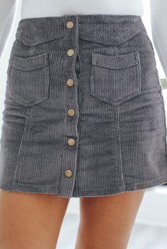 Stand Out Mini Skirt - Smoke