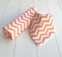 Newborn Gift Receiving Blanket & Bamboo Dribble Bib  by CwtchBugs, £32.00