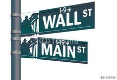Vector: Wall street main street vector intersection