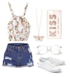 """""""Hello"""" by lailaguerrero155 on Polyvore featuring Lacoste, Alex Monroe and Kate Spade"""