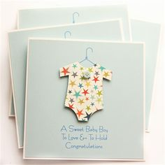 Baby boy card stars new baby newborn baby suit son grandson grandchild