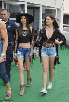 Victoria Justice and Madison Justice at Coachella 2014