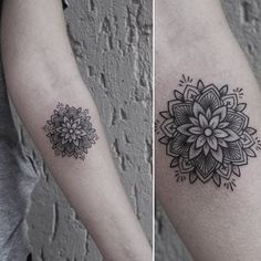 Little Tattoos — Mandala tattoo on the left inner forearm. Elbow Tattoos, Neck Tattoos, Foot Tattoos, Forearm Tattoos, Flower Tattoos, Body Art Tattoos, Small Tattoos, Sleeve Tattoos, Mandala Tattoo Design
